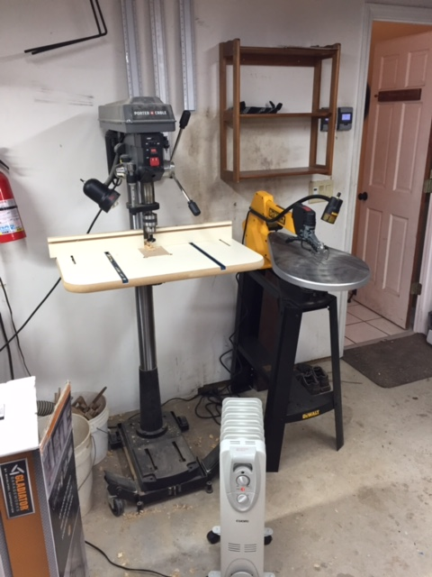 "Porter Cable drill press (Lowes special) works well, but there's about .004"" runout. I've replaced the spindle but I live with it. The DeWalt scroll saw works great after I figured out how to keep the light off the table (I bent the mounting bracket)."
