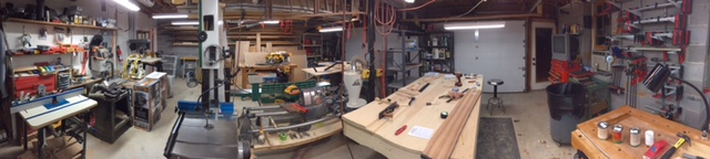 Panorama of one half of my shop.