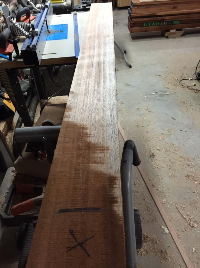 Skip planed mahogany